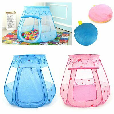 Pink Starry Pop Up Fun Play Tent Playhouse For Girls Kids Baby Children Ball Pit • 11.99£