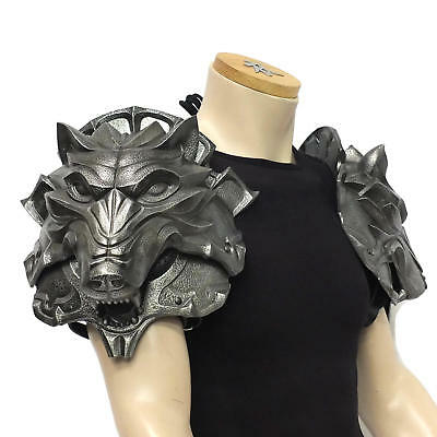Wolf Head Pauldrons, Larp Armour, LARP, SCA, Theatrical, Cosplay Armour, Witcher • 330£