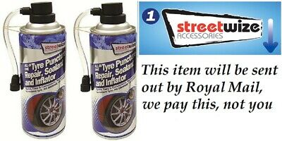 Puncture Repair  Sealer And Inflator 450ml   POST UK SELLER FREE POSTAGE • 15.99£