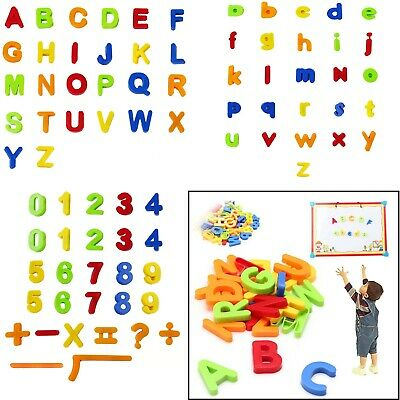 80pcs Magnetic Alphabet Letters Maths Numbers Symbols Kids Learning Creative Toy • 5.99£
