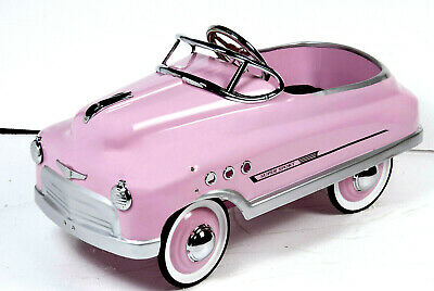Metal 1950's Style Childrens Pink Super Sport Comet Pedal Car -Brand New & Boxed • 249£