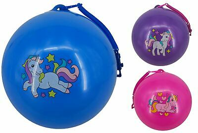 Unicorn Fruity Smelly Scented Ball With Keychain Inflatable Bouncy Kid Party Toy • 22.99£