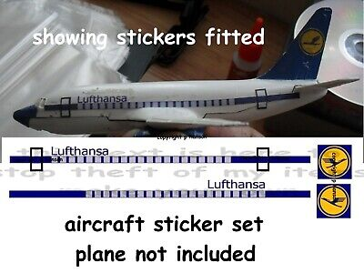 Dinky Toys Aircraft Stickers Lufthansa 737 • 1.80£