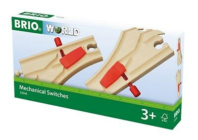 33344 Brio Mechanical Switches Points.  Wooden Railway • 14.89£