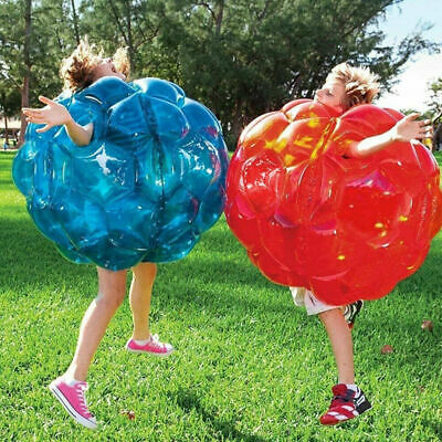 2pcs Kids Bump N Bounce Body Inflatable Bumpers Boppers Kids Sumo Fun Game Toy • 24.99£