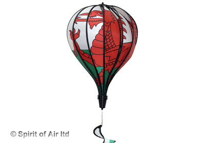 Grand Hot Air Balloon Spinner  - Welsh Dragon - Wales - Extra Large • 21.95£