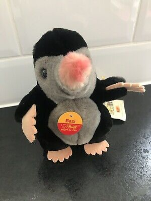 Steiff Black Bazi Mole Rare With Tags • 54.99£