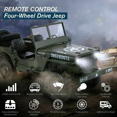 UK Willys Military Army World War Jeep 4x4 Off Road Truck Model Radio Control • 45.99£