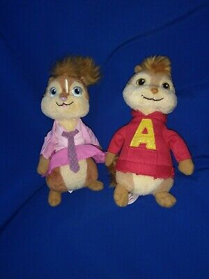 Small Ty Alvin The Chipmunk Soft Toy Beanie Plush • 12.80£