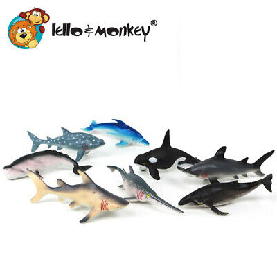 Shark Toys Toy Action Figures Set Of 8  - Buy Direct From The Importer UK, Ebay • 11.99£
