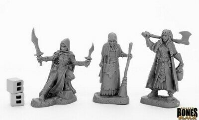 Reaper Miniatures - 44036 - Women Of Dreadmere (3) - Bones Black • 6.75£