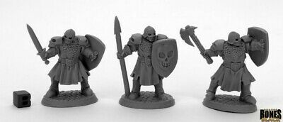 Reaper Miniatures - 44034 - Maggotcrown Men At Arms (3) - Bones Black • 6.75£