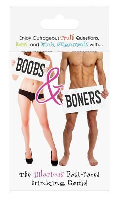 BOOBS & BONERS CARD GAME Truth Dare Drinking Adult Playing GIFT Party 2-4 Player • 5.95£