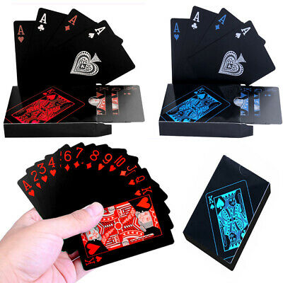 Waterproof Plastic Playing Cards Deck Of PVC Poker Card Creative Party Game Gift • 3.79£