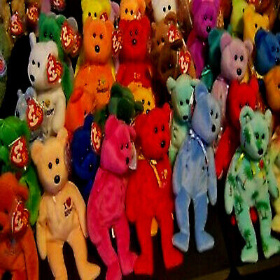I LOVE BEARS (COUNTRIES/ US STATES AND CITIES) ***TY BEANIE BABIES*** Approx 8   • 3.25£