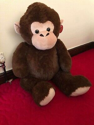 Large 102cm Brown Monkey Stuff Toy Kids Cuddly Bed Toy Soft Teddy New • 23.99£