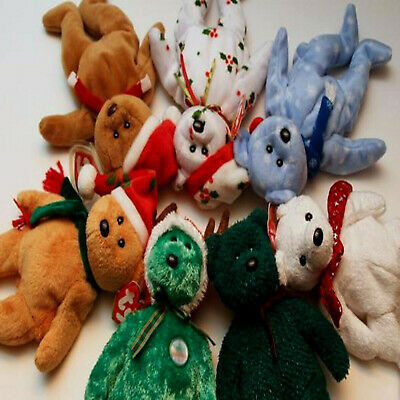 CHRISTMAS AND NEW YEAR BEARS ***TY BEANIE BABIES*** Approx 8   • 3£