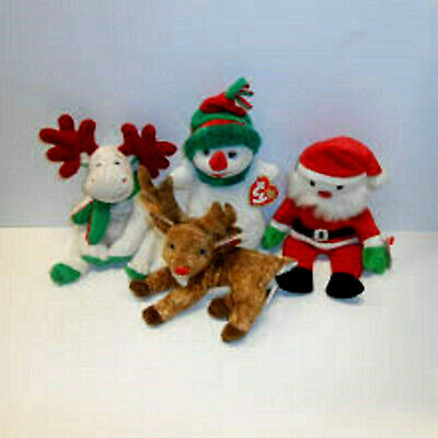 CHRISTMAS/WINTER ANIMALS/CHARACTERS ***TY BEANIE BABIES*** Approx 8   • 3.10£