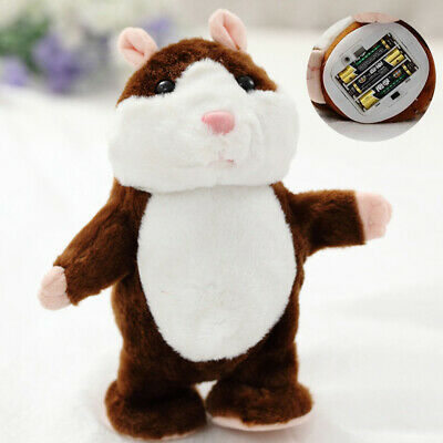 Talking Hamster EA Plush Toy Pet Xmas Gift Record Cute Nod Mouse Chat Mimicry • 6.49£