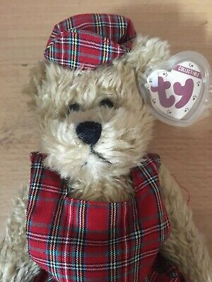 Soft Plush Scotch Ty Beanie Bear Toy  From The Attic Treasures Collection • 17£