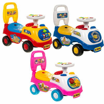 Kids Ride On Car Boys And Girls Push Along Car With Music Lights Genuine Gift UK • 19.50£