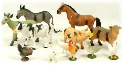 Peterkin Branded 12pc Farm Animal Set - 6 Small And 6 Large • 8.99£