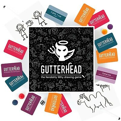 Gutterhead - Adult Party Game Of Dirty Drawings. Funny Board Game Drinking Hen • 24.99£