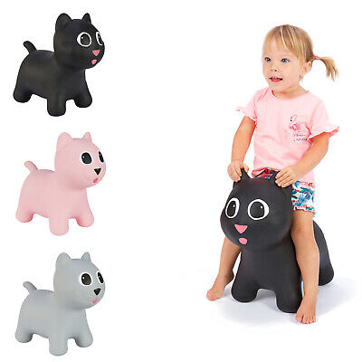 Kids Space Hopper Kitty Cat Tootiny Hoppimals Inflatable + PUMP Non-Toxic Rubber • 18.04£