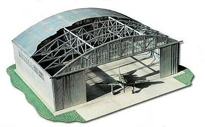 WWII Airforce Hangar 1:72 Scale Model Kit (LASERCUT PARTS) Dimensions: 50 X 40cm • 20.01£