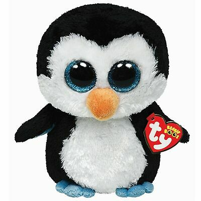 Ty Beanie Boos 36008 Waddles The Black And White Penguin Boo Regular • 6.99£