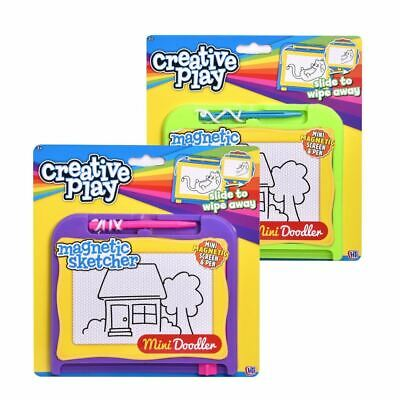 1x Kids Magnetic Drawing Board Scribbler Sketcher Doodle Small Educational Toy • 2.49£