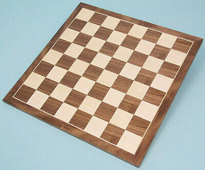 Natural Wood Walnut & Sycamore Veneer Chess Board • 38.49£