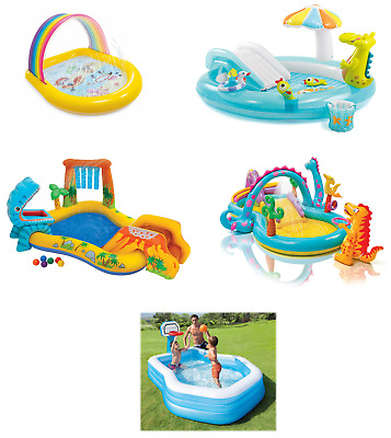 Outdoor Play Center Paddling Pool Inflatable Kids Swimming Pool Water Slide • 42.95£