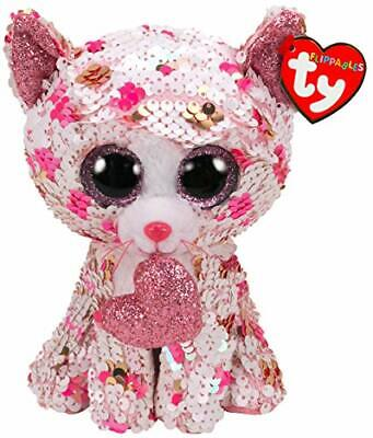 Ty Beanie Flippables 36340 Cupid The Pink Cat Regular Sequin Flippable Valentine • 9.95£