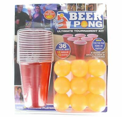 PMS 619028 36PC Official Branded Beer Pong Set Double Blister Card  • 8.49£