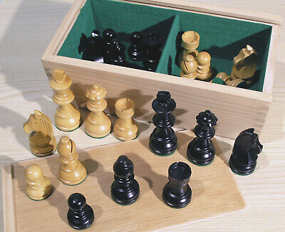 Staunton Chess Pieces - Weighted Boxwood 3  King - 00212 • 39.99£