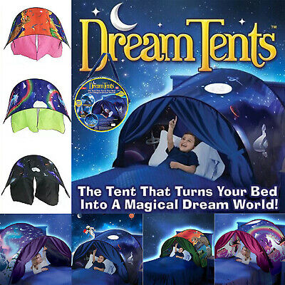 Deluxe Dream Tent Pop Up Foldable Bed Home Playhouse Kids Birthday Gift With Bag • 19.99£