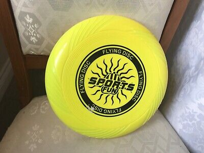 "Sports Fun Flying Disc Frisbee 10"" In Yellow New • 8.99£"