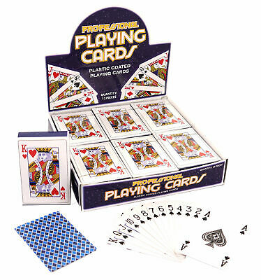 Deck Of Classic Playing Cards - Poker Game Casino Plastic Coated Kids Adult New • 2.29£