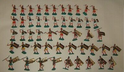 50 X Vintage Timpo Toys Romans Soldiers   1:32 Scale 1960s -70s • 300£