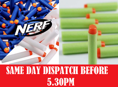 New Nerf Bullets Darts Blue Refills For Fun Adult Kids 10 -100 Zombie/Glow In D • 10.99£