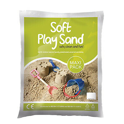 Maxi Pack Soft Play Sand Safe Clean & Fun Non Toxic & Non Staining 12kg • 12.99£