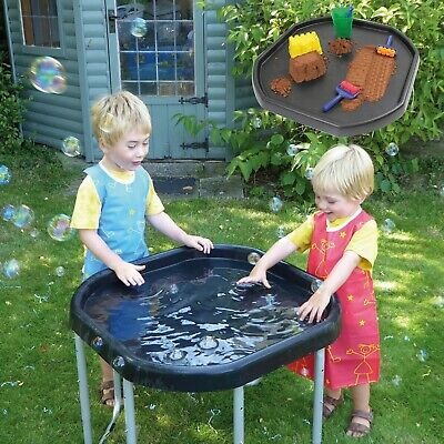 Kub® Ultimate Childrens Tuff Tray And Stand (Black) - Made In The UK - 3 Heights • 39.99£