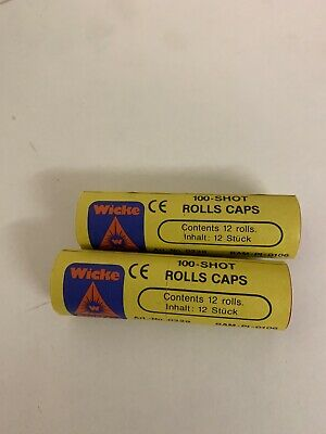 Wicke 2 Rolls Of 100 Shot Paper Caps, Each Containing 12 Reels 2400 Bangs • 5.50£