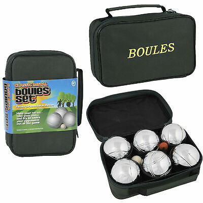 Classic Quality Metal Boules Set X 6 Outdoor Summer Sport Family Fun Garden Game • 20.36£