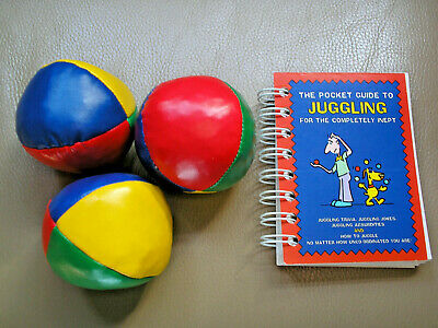 Juggling Balls And Instructions Book • 5£