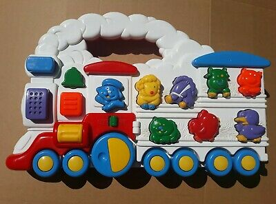Vintage Chicco Animal Sound Train Interactive  Toddler Baby Push Along Toy • 7.99£