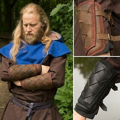 Leather Viking Bracers / Arm Armour - Ideal For LARP / Theatre / Costume • 36£