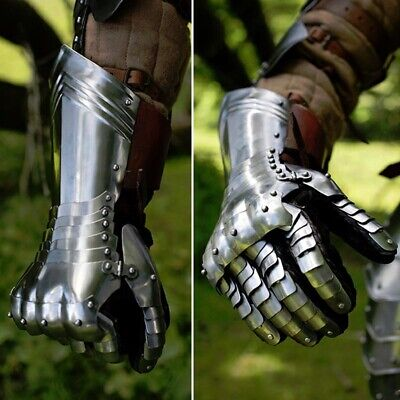 Steel Warrior Gauntlets. Perfect For Medieval Costume Re-enactment & LARP • 160£