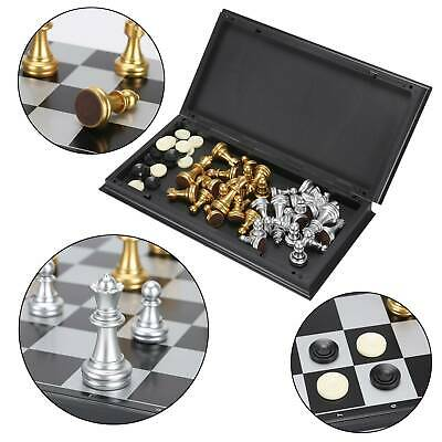 Large Chess Acrylic Set Folding Chessboard Magnetic Pieces Board Gift Toy • 7.99£